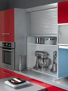 Rideau Coulissant Pour Meuble : petite cuisine 12 astuces gain de place c t maison ~ Teatrodelosmanantiales.com Idées de Décoration