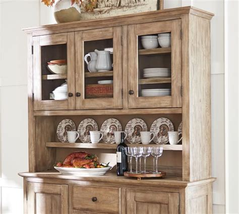 benchwright buffet hutch set seadrift pottery barn