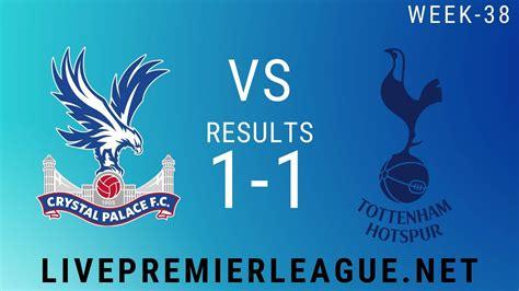 Crystal Palace Vs Tottenham Hotspur | Week 38 Result 2020