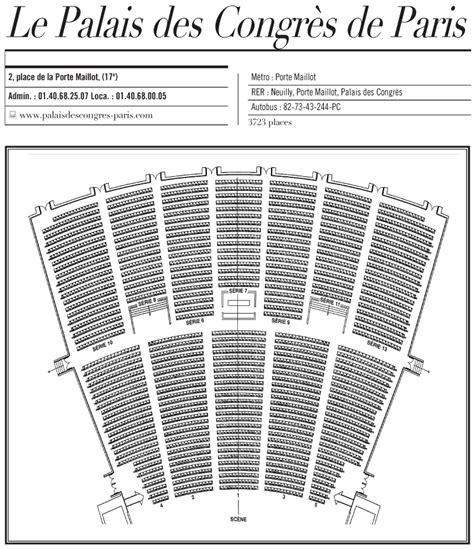 palais des congres plan salle plan de la salle du palais des congres