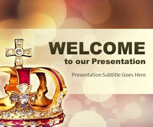 crown powerpoint template