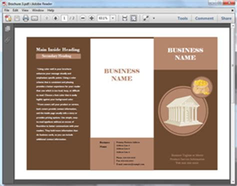 brochure templates  word powerpoint