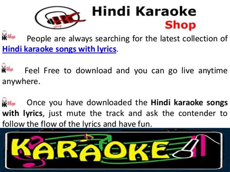 Hindi Karaoke Songs With Lyrics