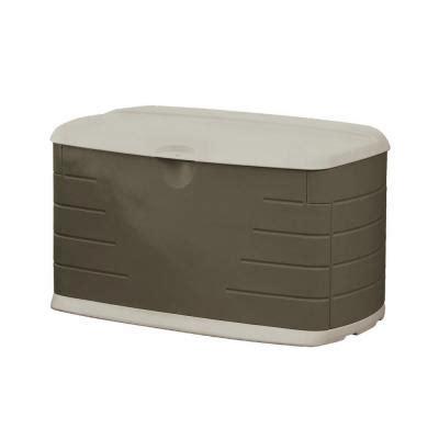 rubbermaid deck box rubbermaid 73 gal medium deck box with seat fg5f2100olvss