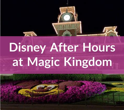 disney after hours at magic kingdom lake buena vista