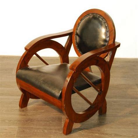 fauteuil teck et cuir fauteuil rond teck et cro 251 te de cuir