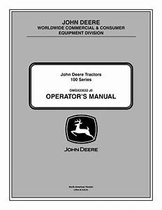 John Deere Tractor 100 Series Omg X23532 J0 User Manual
