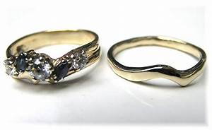Hand made custom handmade to fit curved 14k gold wedding for Custom made wedding bands to fit engagement ring