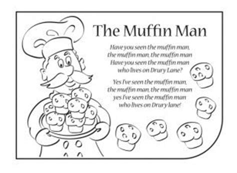 Muffin Man Coloring Page Car Essay