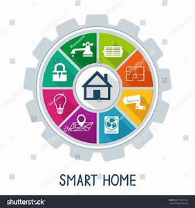 Smart Home Control : smart home automation technology concept utilities stock vector 179287232 shutterstock ~ Watch28wear.com Haus und Dekorationen