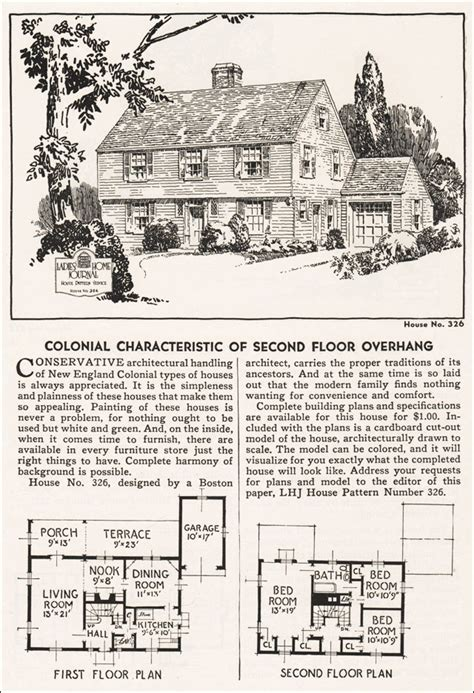 garrison colonial revival ladies home journal house plans