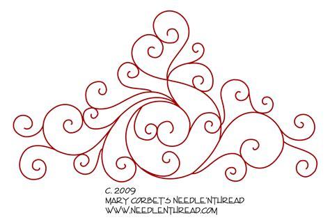 hand embroidery design scrollies needlenthreadcom