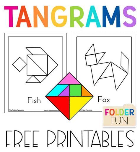 printable tangrams  tangram pattern cards