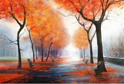 Digital Autumn 4k Park Fall Wallpapers Background