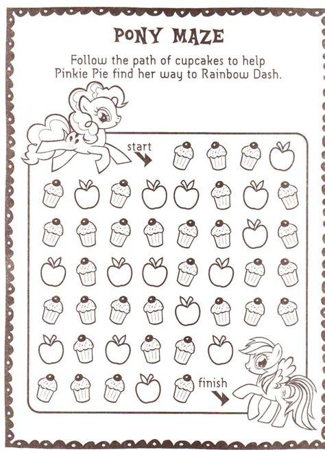 pinkie pie  rainbow dash cupcake maze   pony
