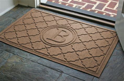 Monogrammed Doormat by Monogrammed Waterhog Door Mats Are Personalized Bombay