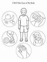 Coloring Preschool Things Clip Theme Yahoo Healthy Bodies Homeschool sketch template