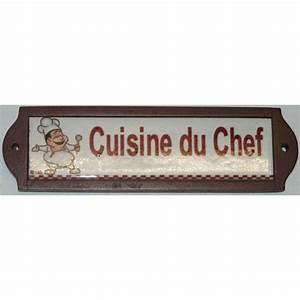 Plaque De Metal : plaque metal de porte ceramique cuisine du chef achat vente plaque de porte lettre ~ Teatrodelosmanantiales.com Idées de Décoration