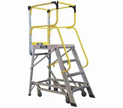 Order Picking Ladders Platform Access Deluxe Warehouse