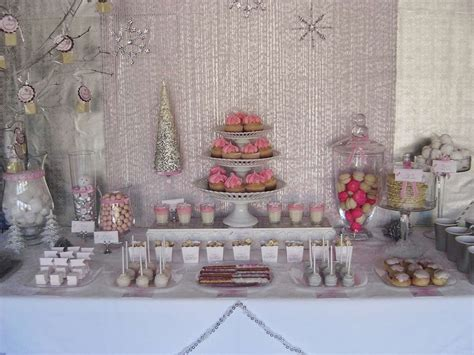 Winter Themed Baby Shower - pink winter baby shower ideas photo 1 of 13