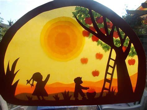 Herbstdeko Fenster Transparentpapier by Waldorf Transparentbild Herbst Puppenprofi Auf Dawanda