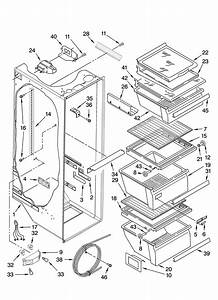 Refrigerator Liner Parts Diagram  U0026 Parts List For Model 10656999602 Kenmore