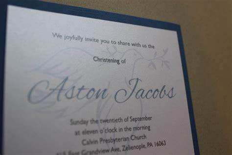 Boy Baptism Invitations Dove Christening First Holy