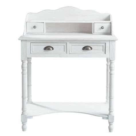 bureau 80 cm bureau secrétaire en bois blanc l 80 cm joséphine