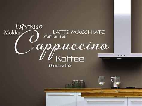 Farbe Cappuccino Küche by Wandtattoo Cappuccino Wortwolke Kaffee Wandtattoo De