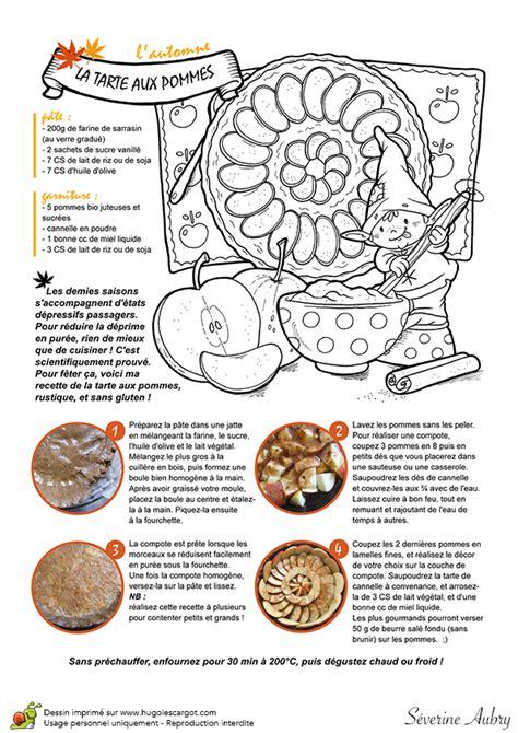 dessin recette de cuisine dessin à colorier un automne de rêve recette de tarte aux