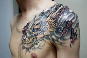 Tatouage Homme Japonais : tatouage dragon japonais pectoraux mod les et exemples ~ Melissatoandfro.com Idées de Décoration