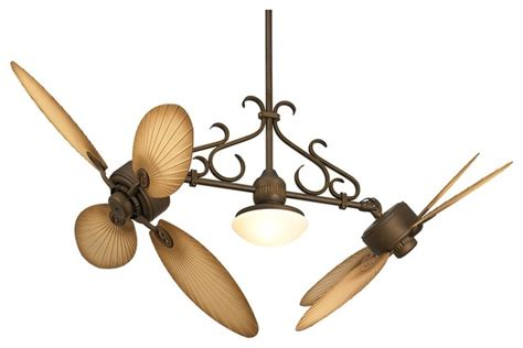 country style ceiling fans country cottage 52 quot casa nova palm blades dual head