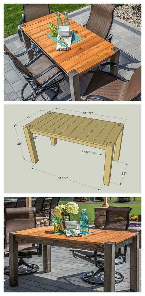 diy cedar patio table  plans  buildsomethingcom