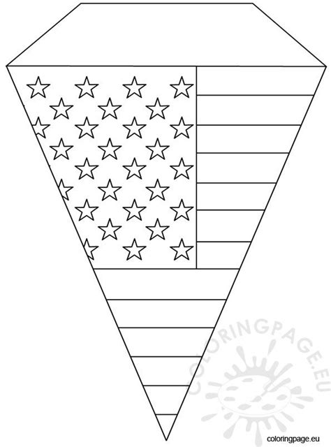 july pennant template coloring page
