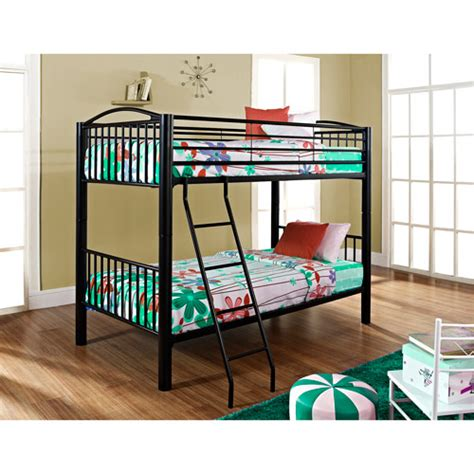 powell furniture heavy metal twin over twin bunk bed