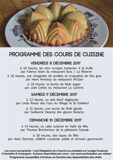 Stage De Cuisine Gratuit Finest Cours De Cuisine A Paris