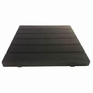 dalle de terrasse en pierre reconstituee aspect bois noir With amenager un jardin en longueur 12 dalle terrasse pierre aspect bois noir