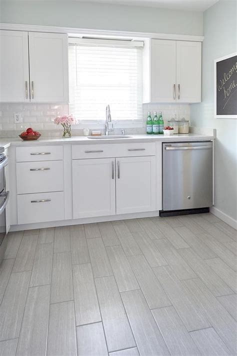 white tile kitchen floor style selections leonia silver porcelain floor tile 1475