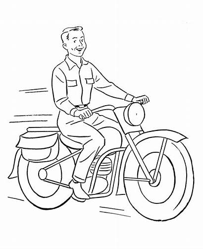 Coloring Pages Motorcycle Vehicles Learning Wheel Vehicle