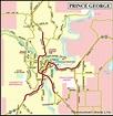 Map of Prince George, Northern BC – British Columbia ...