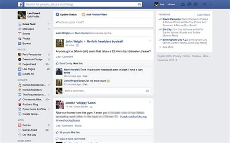 Facebook Unveils Simplified News Feed Page