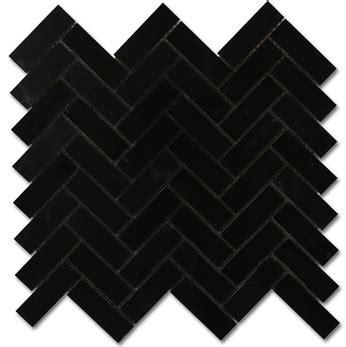black and white herringbone tile nero marquina black marble 1x3 quot herringbone polished mosaic tile