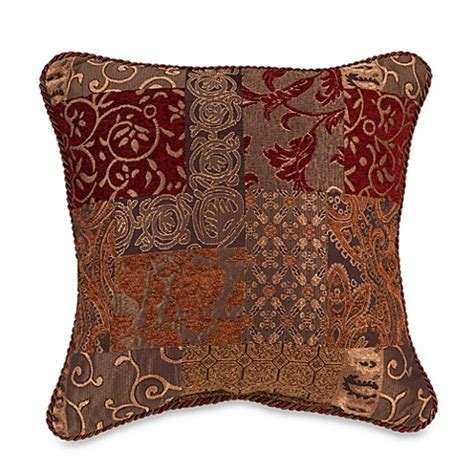 bed bath and beyond sofa pillows croscill galleria 18 inch square throw pillow bed bath