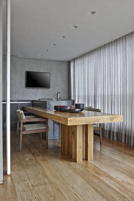 contemporary apartment ideas soften  rustic wood