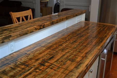 Kitchen Floor Green Cars Meaning by Beautiful New Countertops Made From The Floors Of Railroad