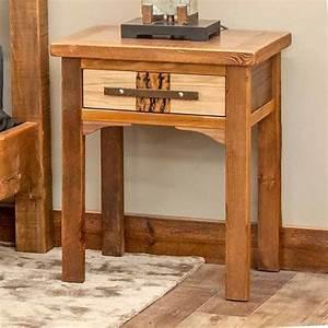 Mendocino, Reclaimed, Barn, Wood, 1, Drawer, Nightstand