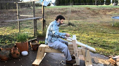 shaving horse log vise youtube