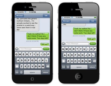 iphone 5s messages app mockups show why you ll a 4 inch iphone 5