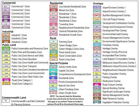 maps legend planning schemes online