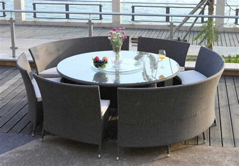 table de jardin ronde en resine